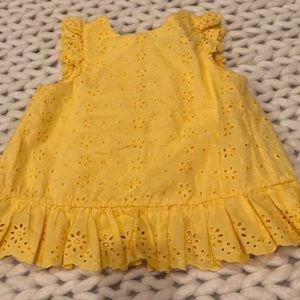 Yellow Ralph Lauren eyelet summer top